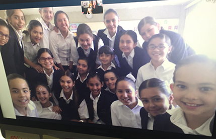 Skype in the Classroom with student abroad